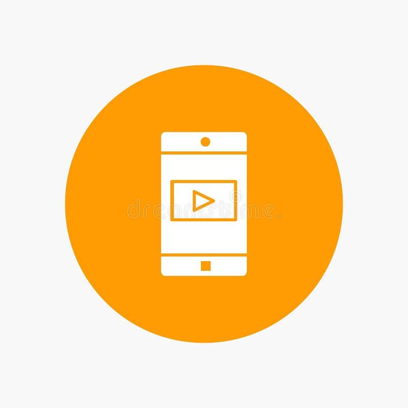 Uso, móvil, aplicación móvil, vídeo libre illustration