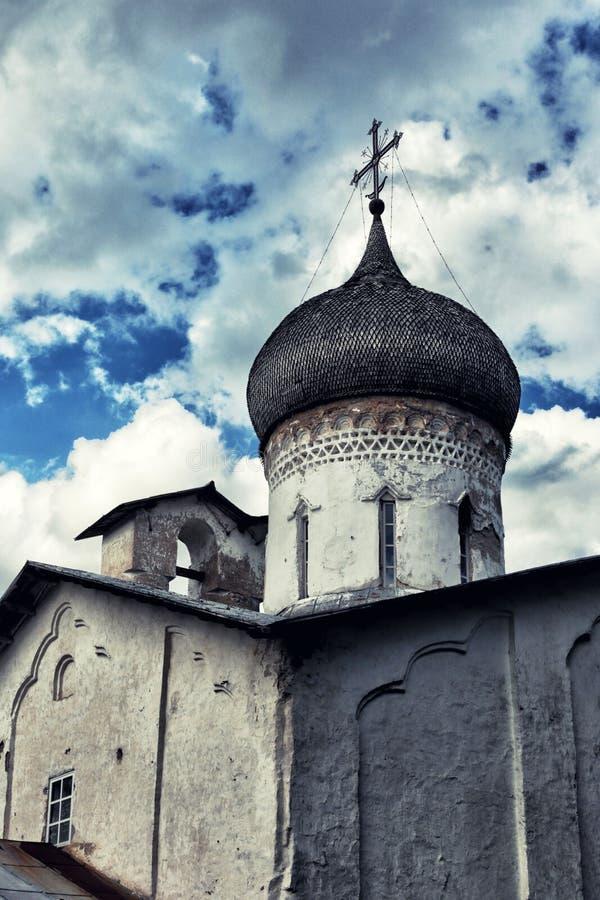Usokha圣尼古拉斯教会在普斯克夫 免版税库存图片