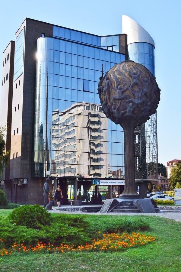 Uspenje纪念碑在克拉古耶瓦茨,塞尔维亚 免版税库存照片