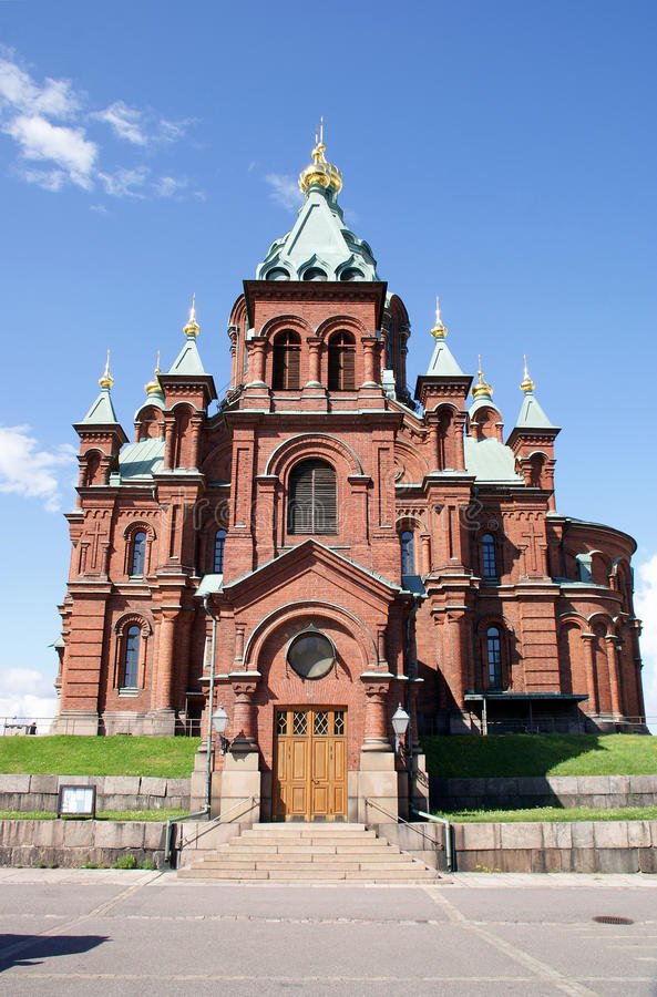 Uspenski Cathedral in Helsinki stock photography