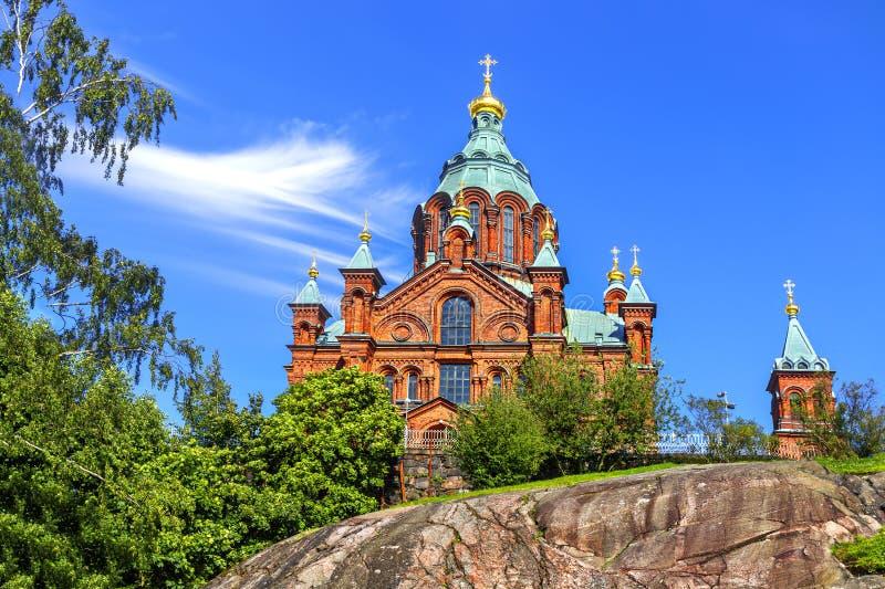 Uspenski ortodoxdomkyrka Hilsinki finland arkivbild