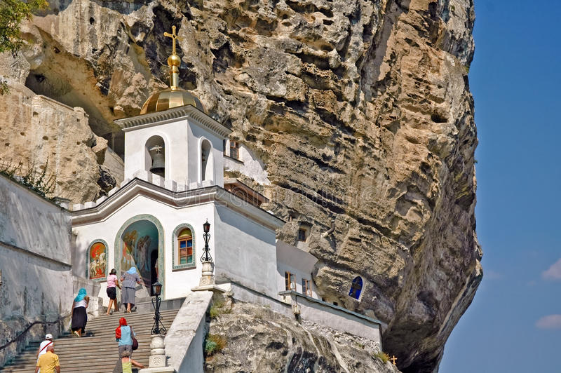 Uspenskiy monastery in Crimea near Bakhchisarai. In rock royalty free stock photography