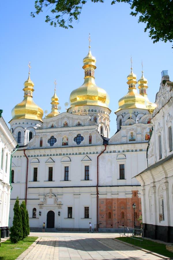Uspenskiy temple in Pecherskaya Lavra - Kiev royalty free stock image