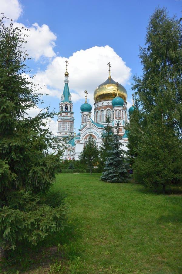 uspensky的大教堂 鄂木斯克 库存照片
