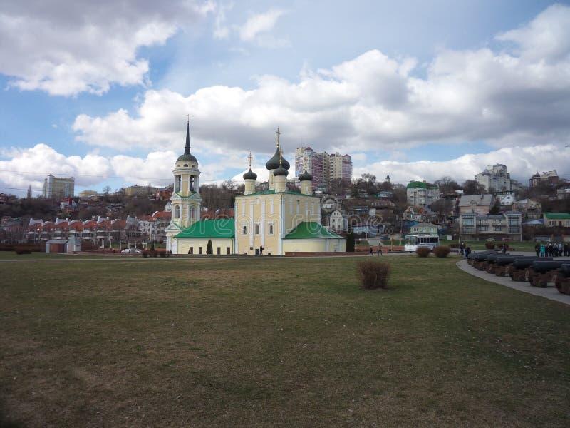 Uspensky Admiralteysky Hram en Voronezh fotografía de archivo