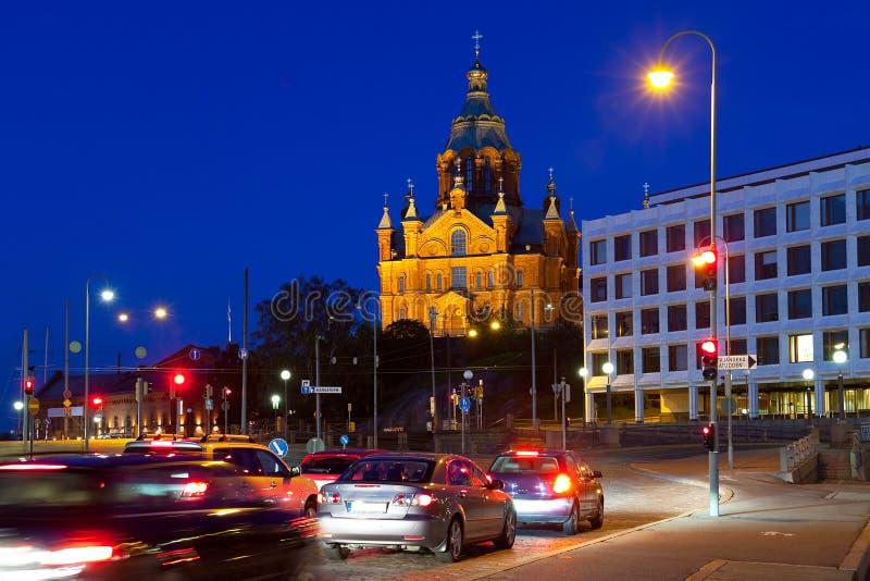 Uspensky cathedral in Helsinki, Finland stock photography