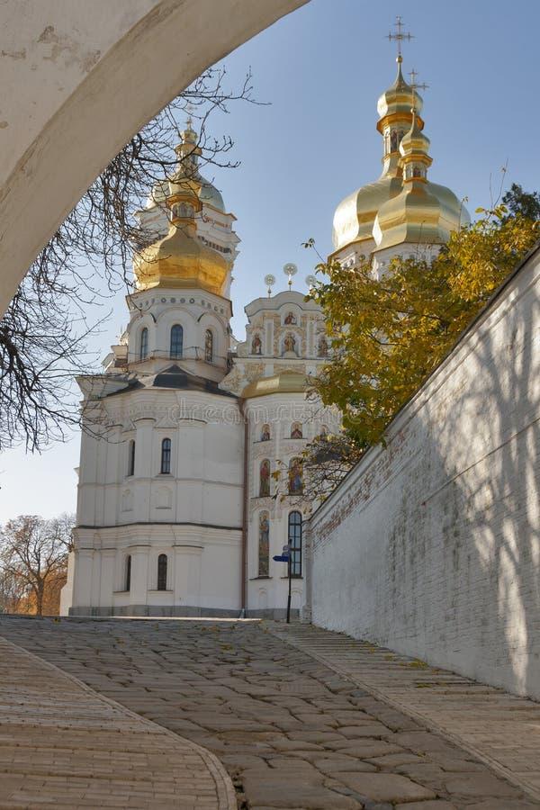 Uspensky cathedral, Kiev-Pechersk lavra monastery. royalty free stock image