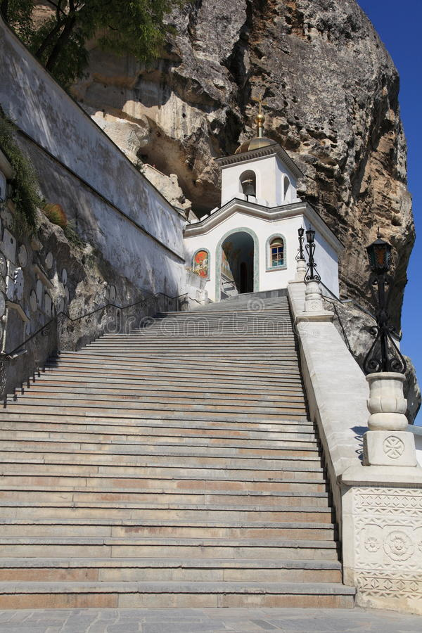 Uspensky ein Höhlekloster in Krim lizenzfreie stockbilder