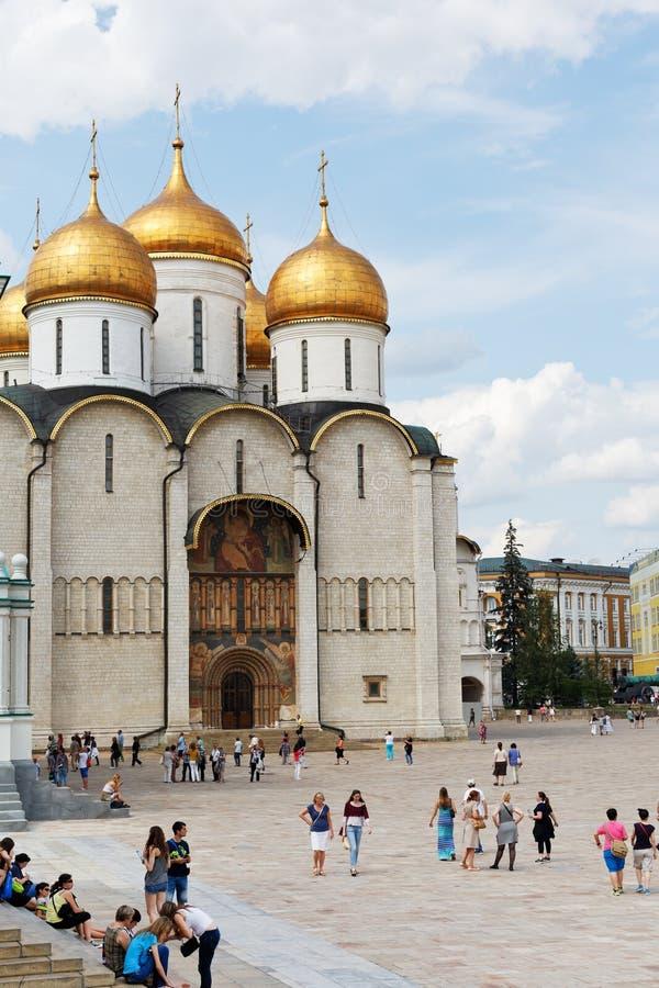 Uspensky sobor i MoskvaKreml royaltyfri fotografi