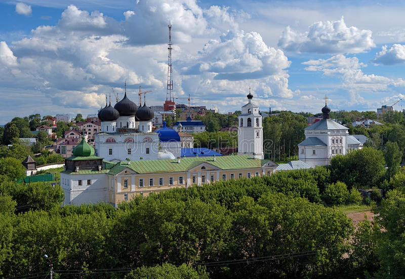 Uspensky Trifonov修道院在基洛夫,俄国 免版税图库摄影