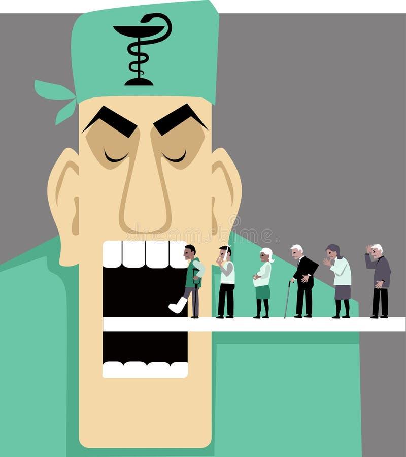 Usprawniać opieka zdrowotna ilustracji