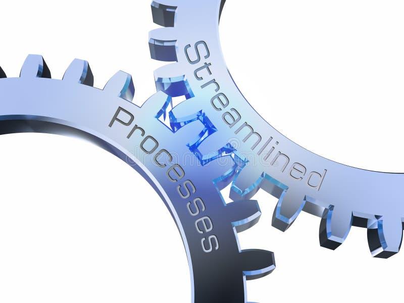 Usprawnioni procesy na gearwheels ilustracja wektor