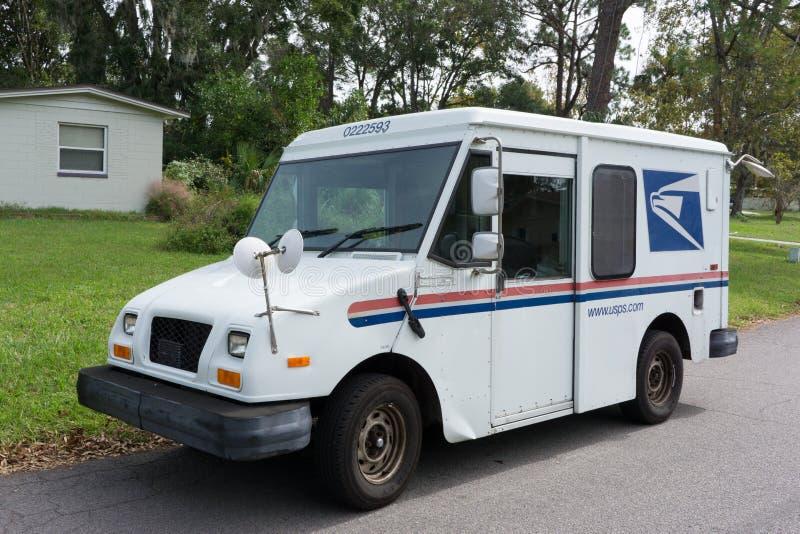 USPS Doręczeniowy Van zdjęcie royalty free