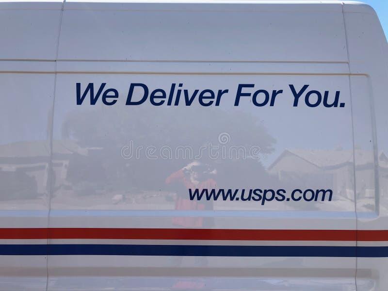 USPS-Embleem stock foto