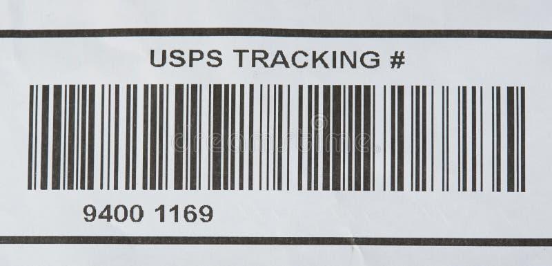 USPS tropi numerowego i prętowego kod obrazy royalty free