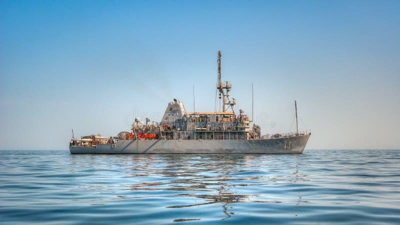 USS争论者(MCM 11)水雷对抗措施船 库存照片