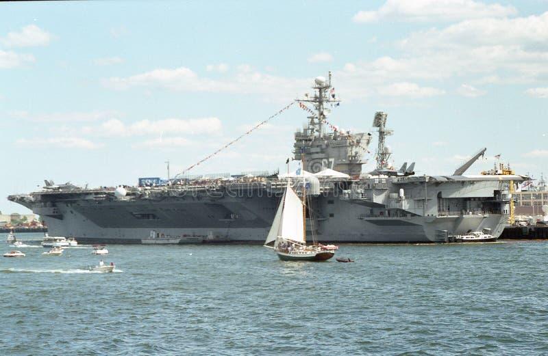 USS约翰F 肯尼迪CV-67航空母舰 图库摄影