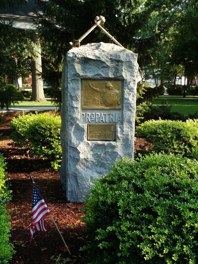 USS缅因纪念碑,赞成Patria,拉塞福, NJ,美国 库存照片