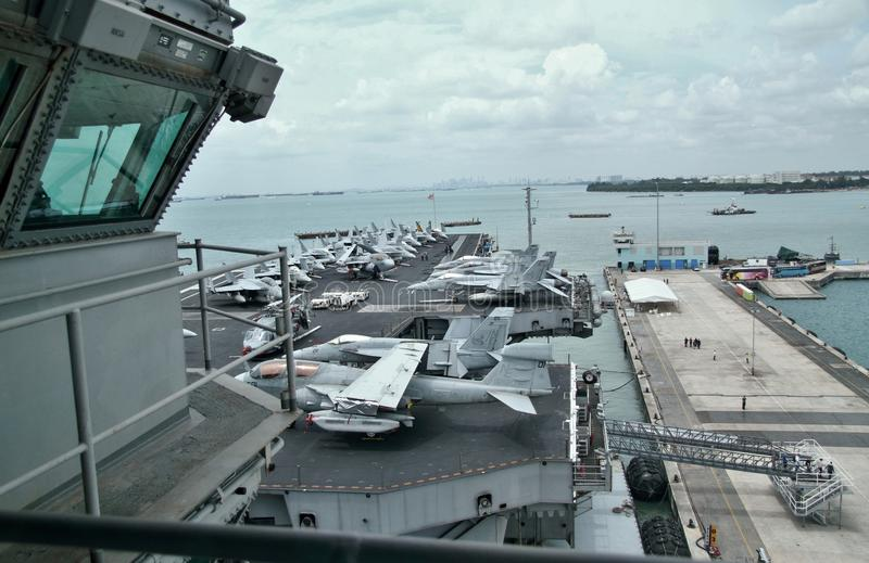 USS Abraham Lincoln photo libre de droits