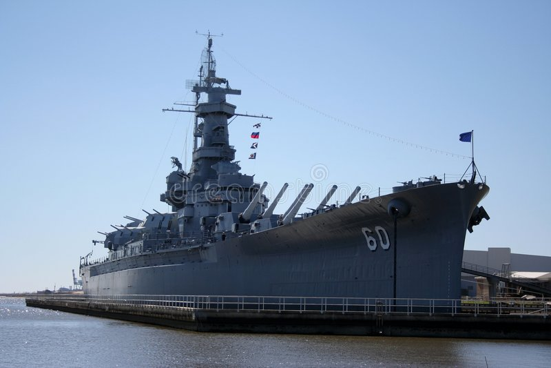 USS Alabama royalty-vrije stock afbeeldingen