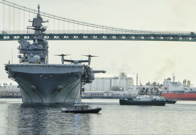 USS Amerika stock afbeeldingen
