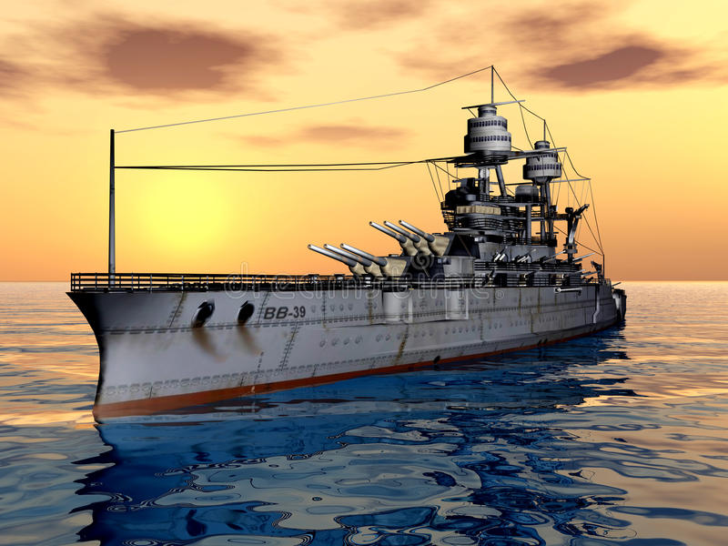 USS Arizona royalty-vrije illustratie