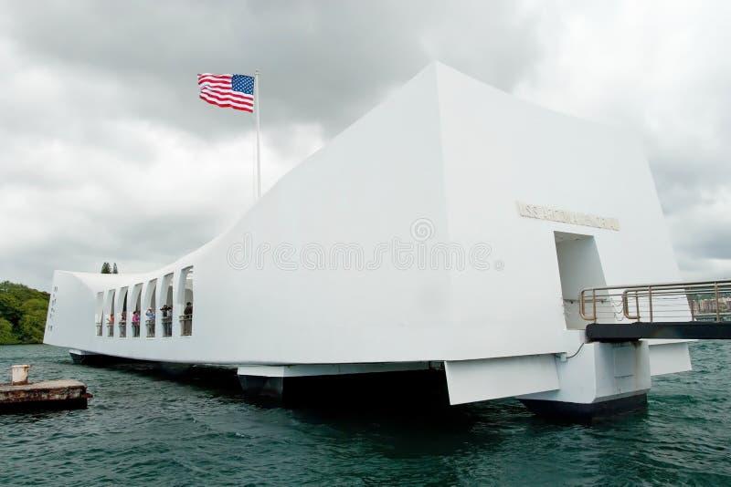 USS Arizona Memorial in Pearl Harbor in Honolulu Hawaii stock photography