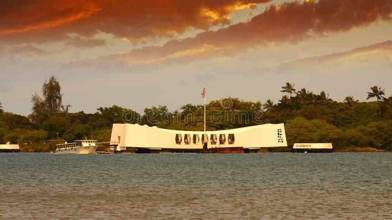USS Arizona Memorial. Arizona memorial in Pearl Harbour, Oahu, Hawaii royalty free stock photo