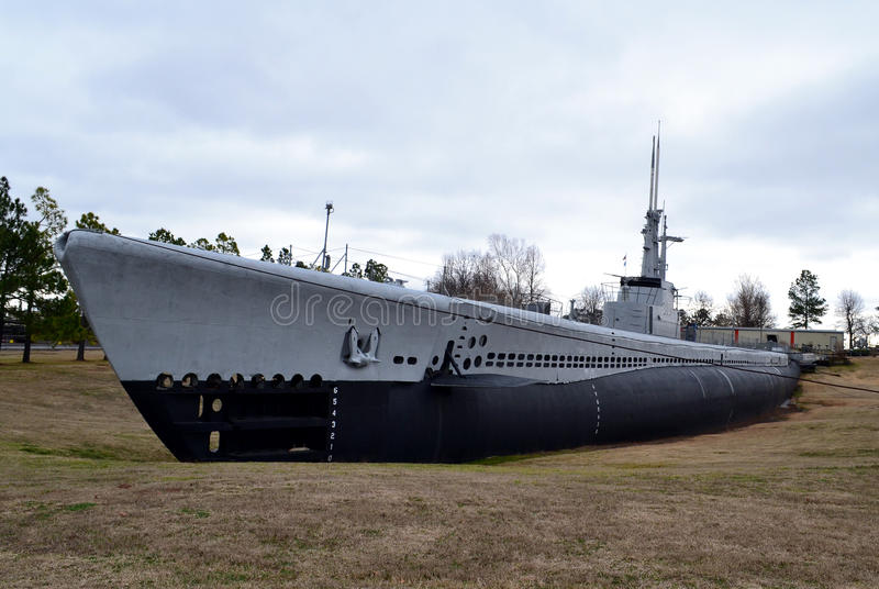 USS Batfish. The USS Batfish is a Balao-class submarine that sank nine Japanese ships during the Second World War. The ship is located at the Muskogee War stock photography