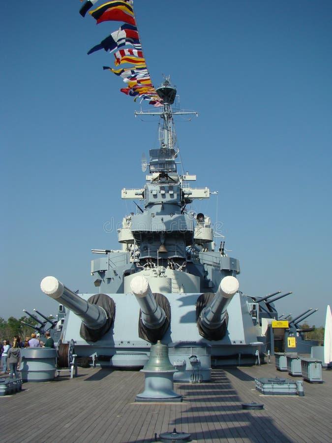 USS Battleship North Carolina royalty free stock photo
