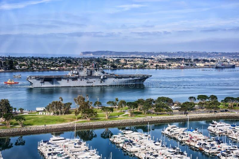 USS boxare royaltyfri fotografi