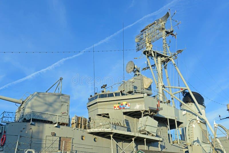 USS Cassin jeune DD-793 à Boston, le Massachusetts, Etats-Unis image stock