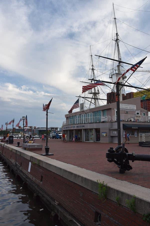 USS Constellation Historyczny statek w Baltimore, Maryland zdjęcie stock