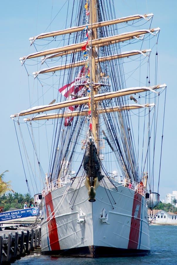 USS Eagle in Port Miami stock image