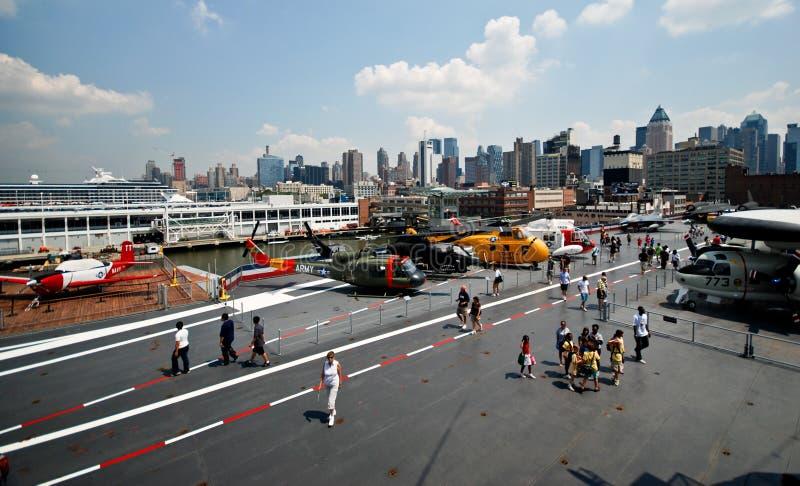 USS furchtloses aircaft Museum stockbild