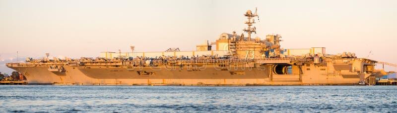 12x36 inch USS George Washington Panorama stock photo