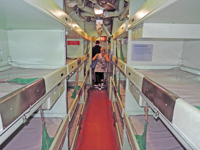USS Growler: Crew's Quarters stock image