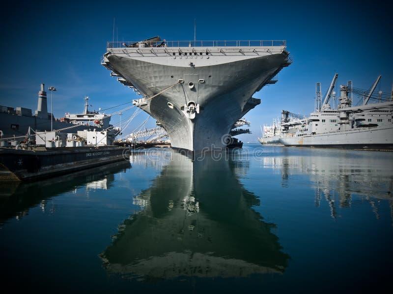USS Hornet stock photography