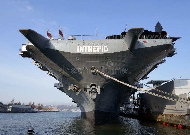 USS intrépido - museu de New York imagem de stock royalty free
