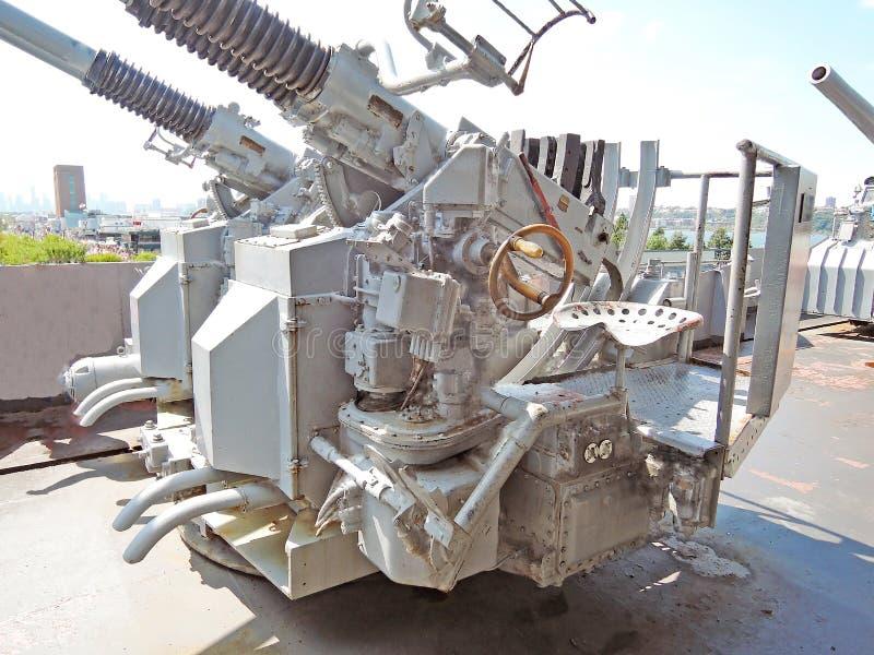 USS Intrepid: Bofors 40mm Auto-Cannon royalty free stock photo
