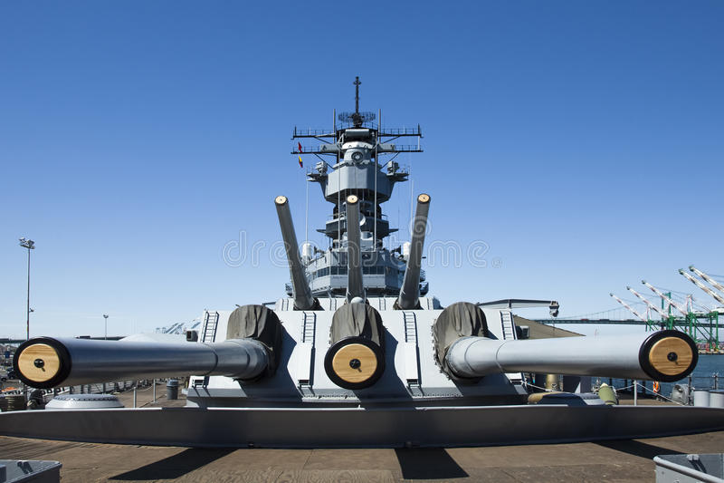 USS Iowa Museum Ship stock image