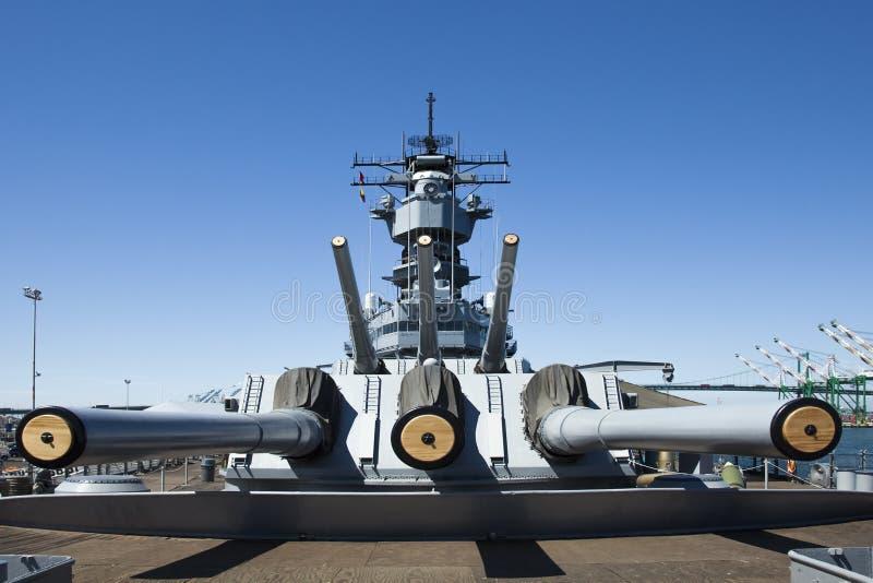 USS Iowa museumskepp fotografering för bildbyråer