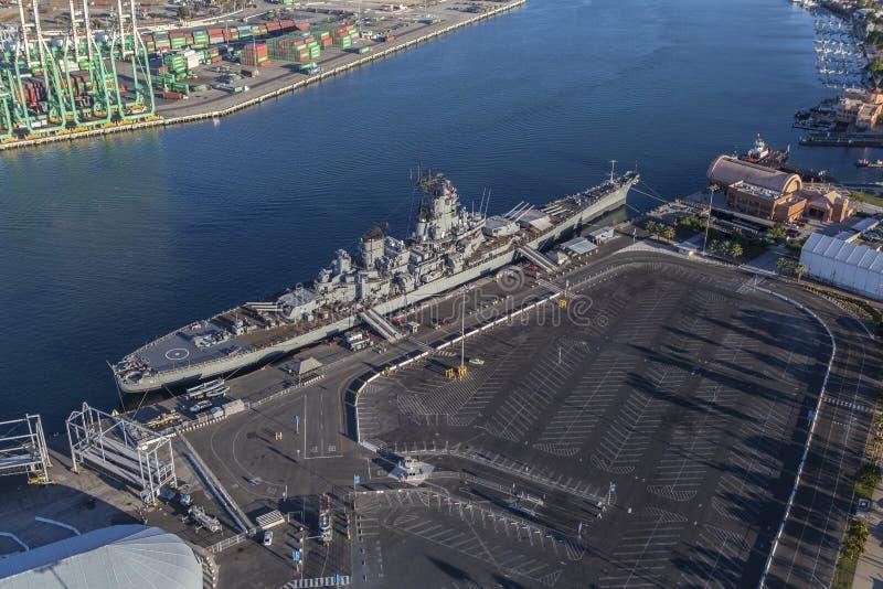 USS Iowa Schlachtschiff-Museums-Antenne stockfoto