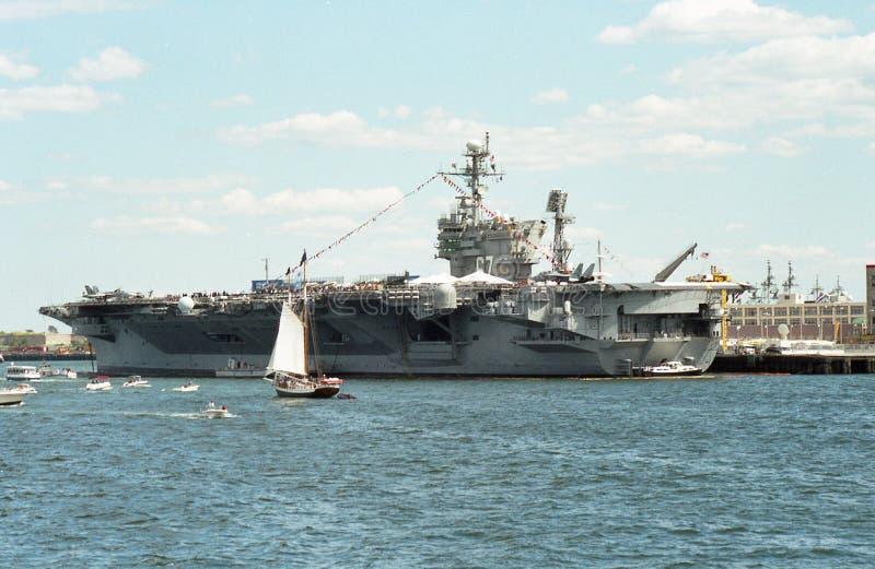 USS John F. Kennedy CV-67 Aircraft Carrier stock image