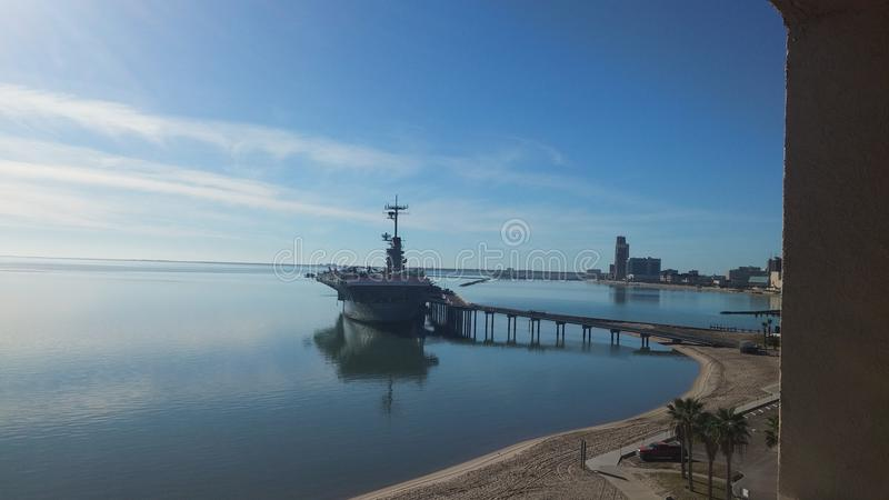 USS Lexington Корпус Кристи стоковые фотографии rf