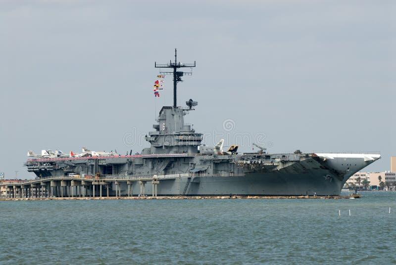 USS Lexington, Corpus Christi, TX fotografia de stock