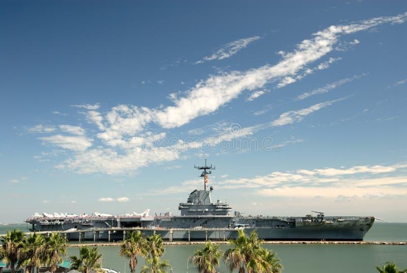 USS Lexington em Corpus Christi, Texas EUA imagem de stock