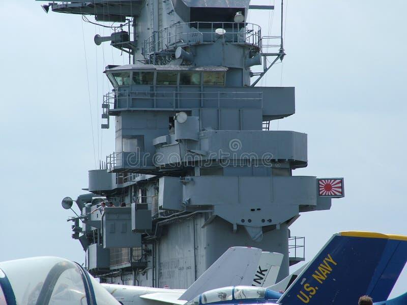 USS Lexington en Corpus Christi, Tejas los E imágenes de archivo libres de regalías
