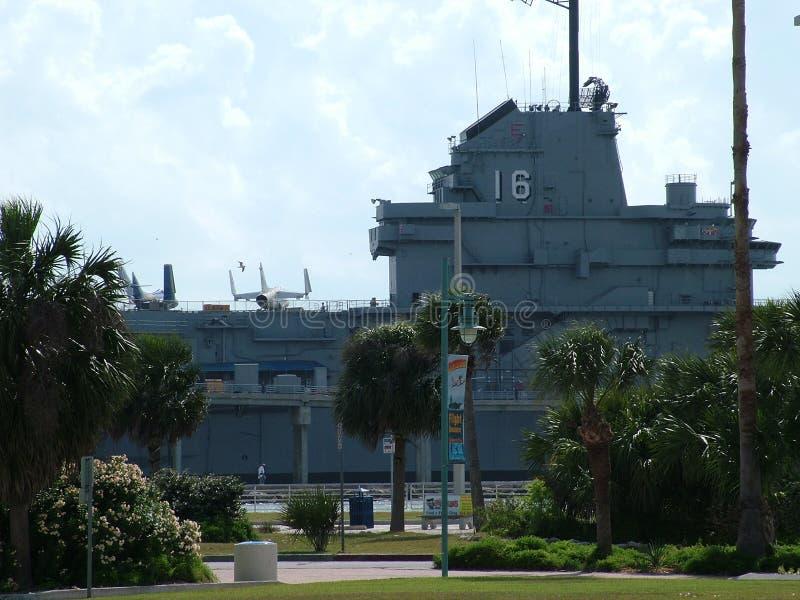 USS Lexington en Corpus Christi, Tejas los E fotos de archivo libres de regalías