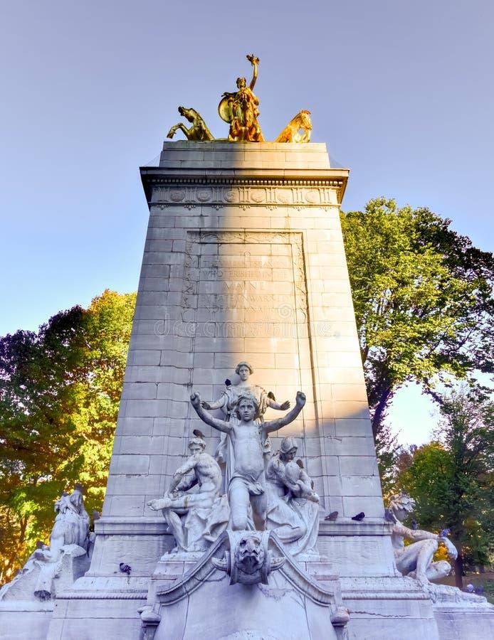 USS Maine Monument - New York immagini stock